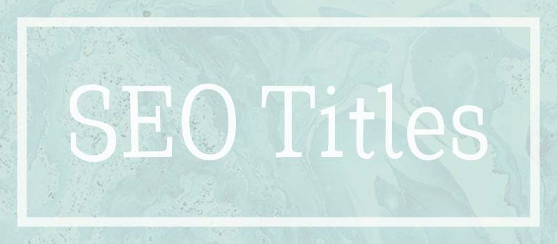 What is an SEO title?