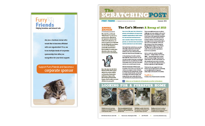 Furry Friends brochure and newsletter